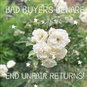 END BOGUS BUYER RETURNS! ABUSING RETURN POLICY! 😡